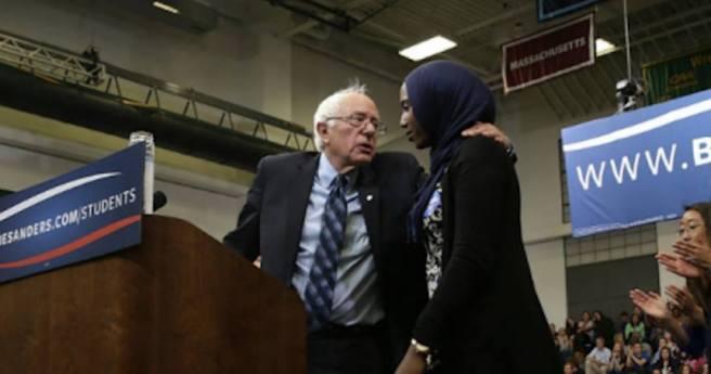 Bernie Sanders hug